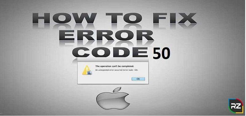 Fix Mac Error Code -50
