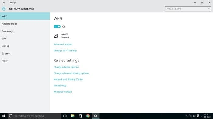 Manage Wi-Fi settings - fix WiFi Option Not Showing In Windows 10