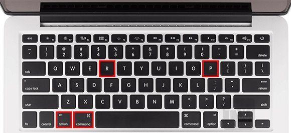 Reset PRAM - solution of Mac Error Code 50