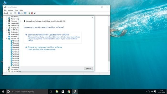 Update network adapter driver - Windows 10 WiFi Problems