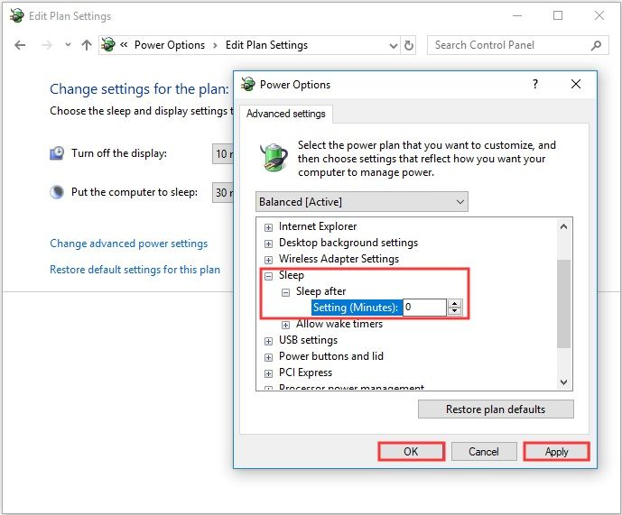 Expand Sleep - Event 41 Kernel-Power Windows 10 Fix