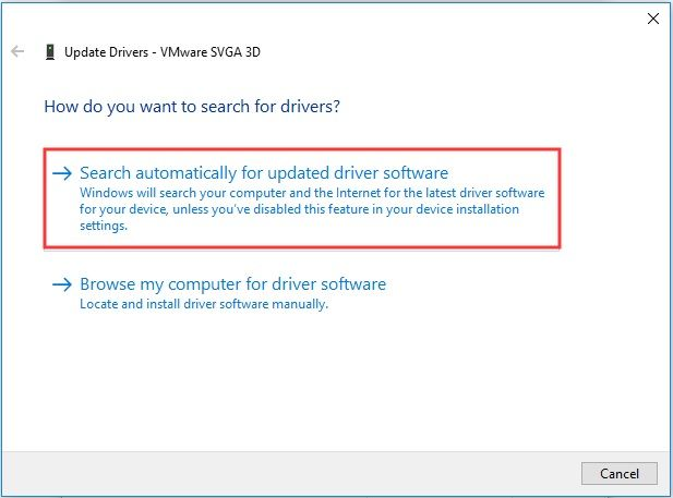 Search Automatically for Updated Driver Software - Kernel Power 41 63 Windows 10 Gaming