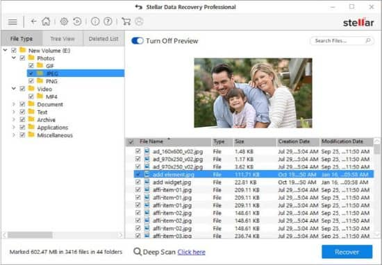 scan and recover - stellar data recovery