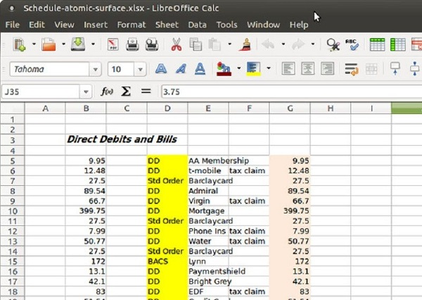 Run LibreOffice Calc-Excel For Linux Free Download