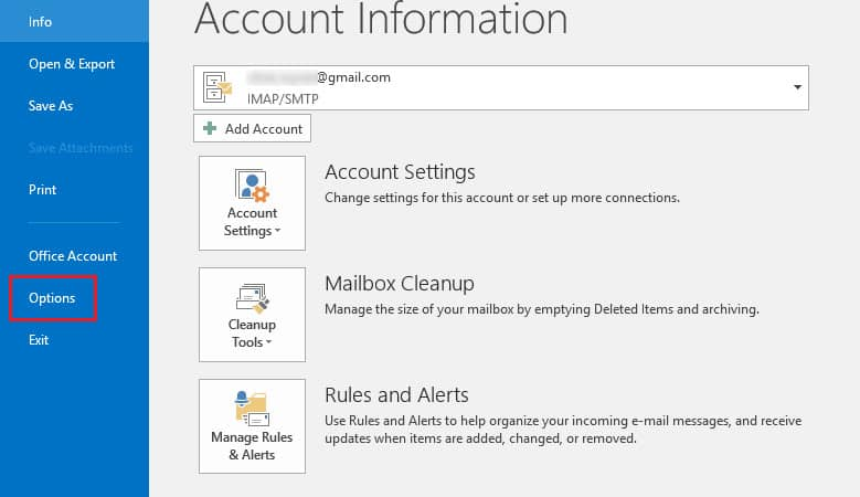 Disable the New-Mail Notification Feature in MS Outlook-0x80004005 outlook 365