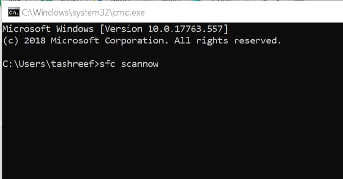 Run System File Checker - Windows Script Host Error Windows 8