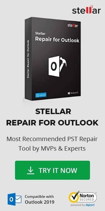 Stellar Repair For Outlook - Side bar image