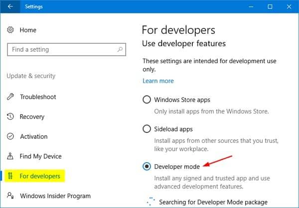 Turn Off Developer Mode