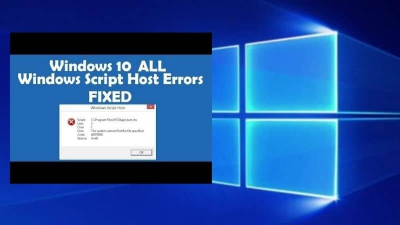 Windows Script Host Error