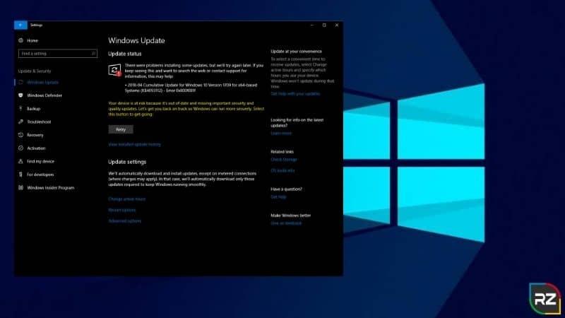 windows 10 update error 0x800f081f