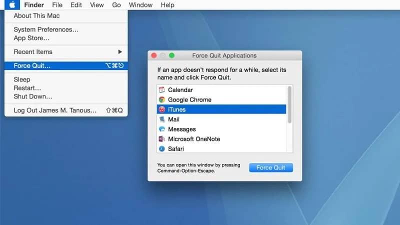 Mac Frozen Force Quit