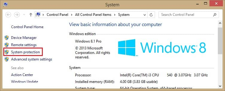 Perform the System Restore