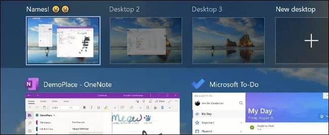 Renaming Virtual Desktops