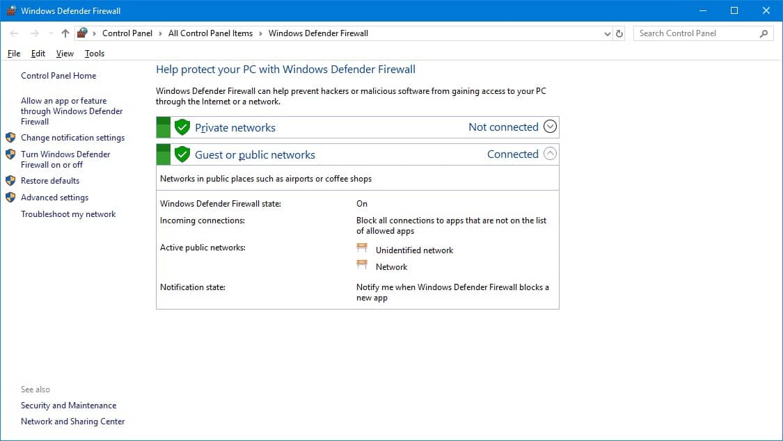 Switch Off the Windows Firewall - 0x800ccc0f Outlook 2013