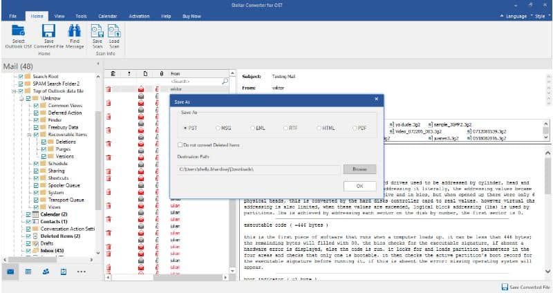 stellar-converter-for-ost-save-converted-pst-file-5 - ost to pst converter open source