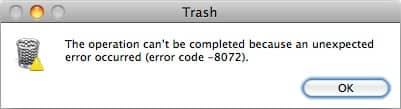 Mac error number 8072