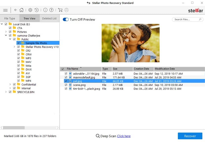preview - photo recovery software for windows 10 mac
