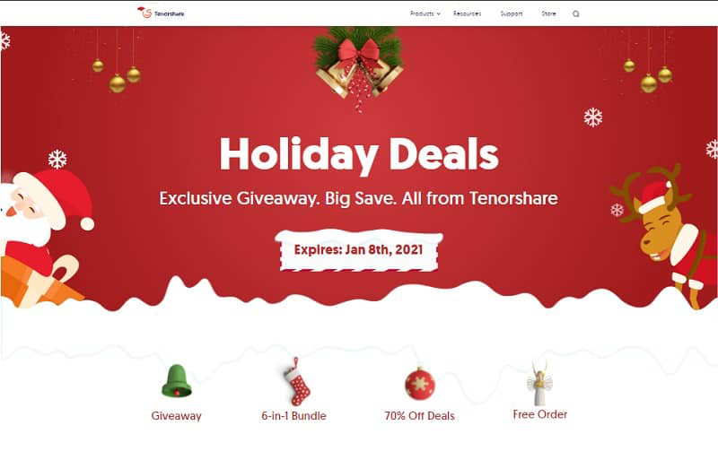 Tenorshare Holiday Deals 2020