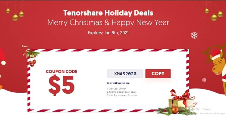 Tenorshare New Year Deal 2021 - Tenorshare Holiday Deal 2020