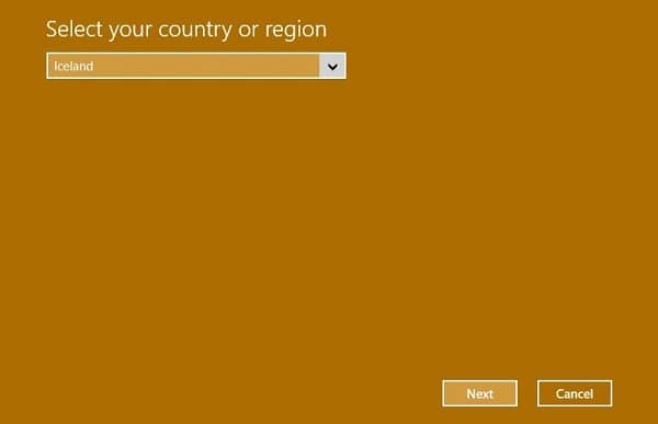 select country - win 10 activation 0x803f7001