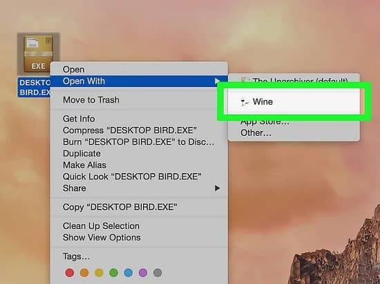 how to open exe files on mac - step 9