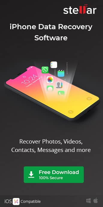 Stellar iPhone Data Recovery Software - sidebanner image
