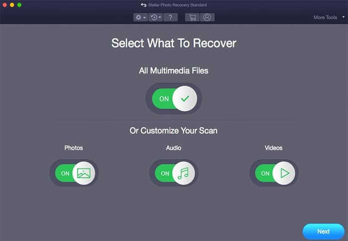 how to use Stellar Photo Recovery Mac - Step 1