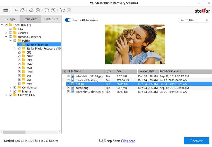 how to use Stellar photo recovery - step 2