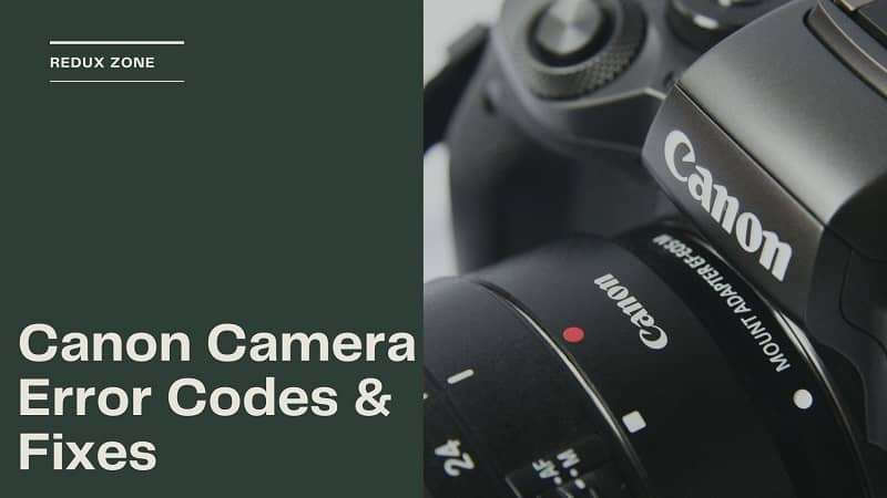 canon camera error codes and fixes