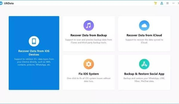 step1 {tenorshare iPhone Data Recovery Software}